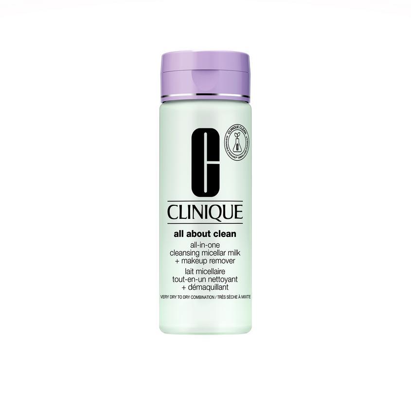 CLINIQUE Молочко для снятия стойкого макияжа для кожи, склонной к сухости All-in-One Cleansing Micellar Milk + MUR ST 1 & 2