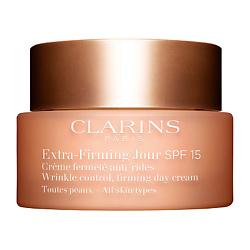 CLARINS Регенерирующий дневной крем против морщин для любого типа кожи Extra-Firming SPF 15 50 мл clarins extra firming 3ml