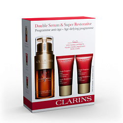 CLARINS Набор Clarins Double Serum+ Multi-Intensive 30 мл + 15 мл + 15 мл clarins clarins восстанавливающий бальзам baume beaute eclair 50 мл