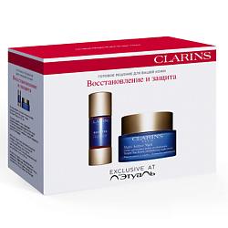 CLARINS Набор средств ухода для лица для восстановления кожи 15 мл + 50 мл