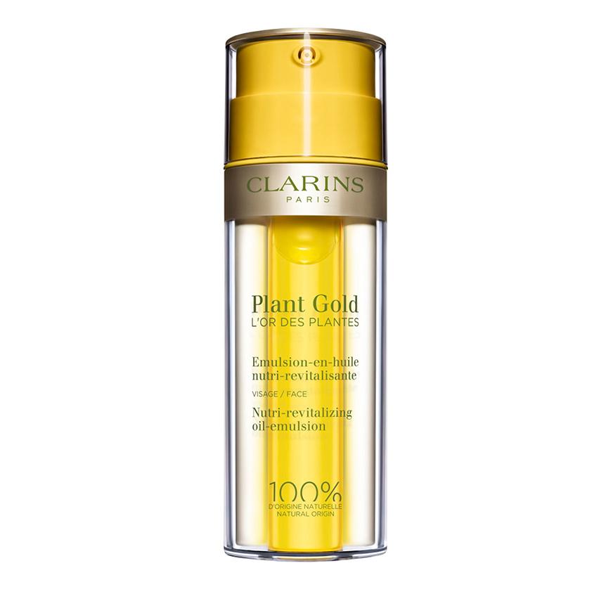 Купить CLARINS Питательная эмульсия для лица с маслом голубой орхидеи Plant Gold - L'Or des Plantes