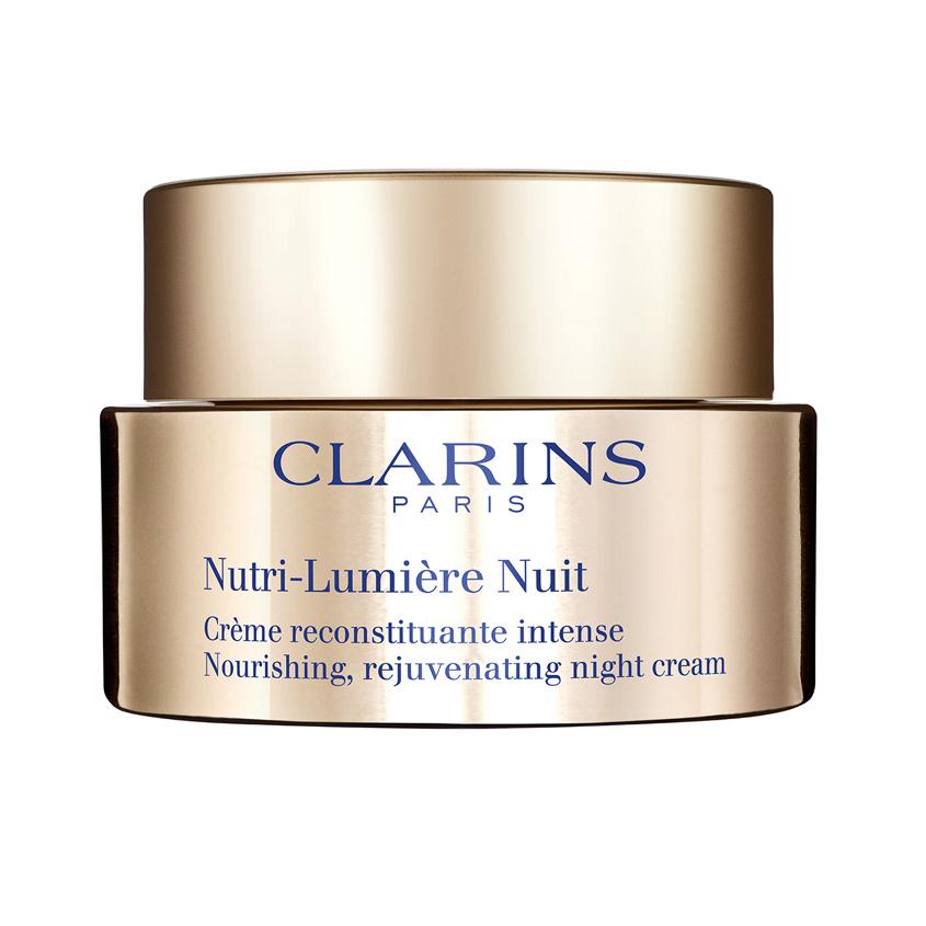 CLARINS Питательный антивозрастной ночной крем придающий сияние зрелой коже Nutri-Lumière.