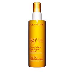 CLARINS Солнцезащитное увлажняющее молочко-спрей для лица и тела SPF 50+ 150 мл