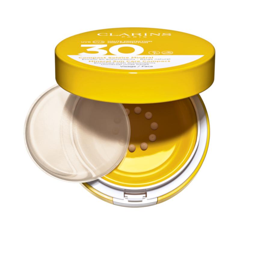 CLARINS Cолнцезащитный флюид для лица с легким тоном Compact Solaire Mineral Visage SPF 30 CLARINS Cолнцезащитный флюид для лица с легким тоном Compact Solaire Mineral Visage SPF 30