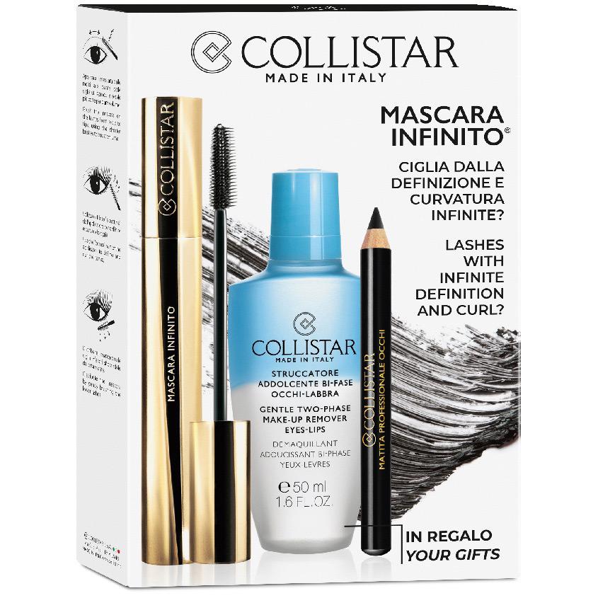 COLLISTAR Набор Тушь для ресниц INFINITO + Средство для снятия макияжа для глаз + Карандаш для глаз