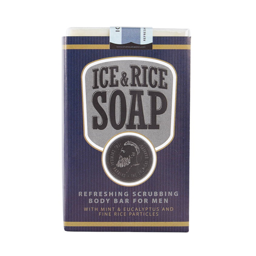 THE CHEMICAL BARBERS Освежающее мыло для тела со скрабом Лёд&Рис