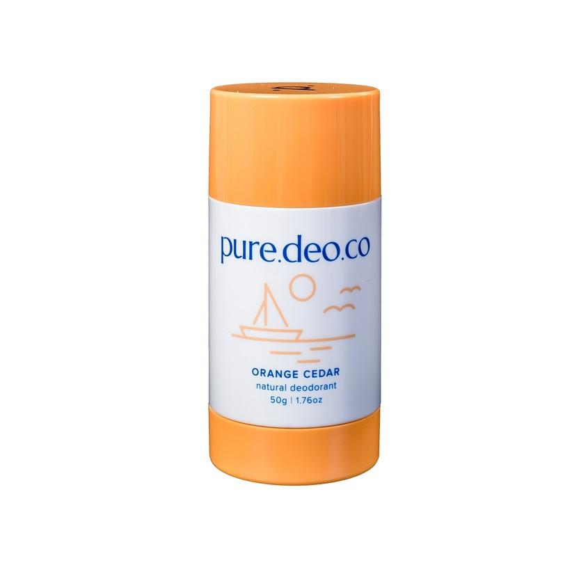 PURE DEO CO Дезодорант-стик без солей алюминия с апельсином и кедровым деревом