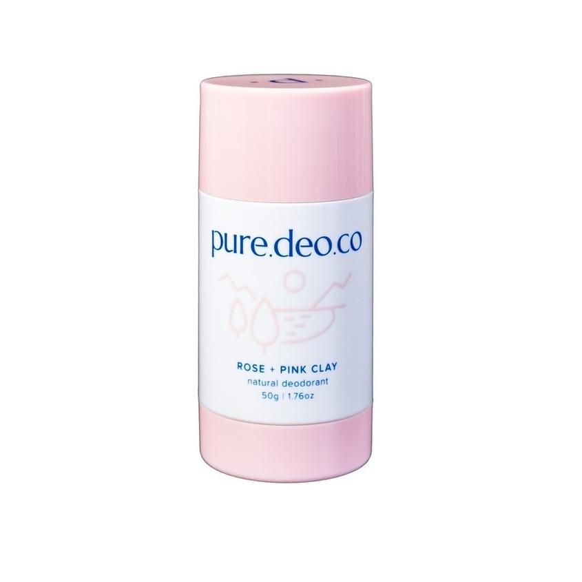 Купить PURE DEO CO Дезодорант-стик без солей алюминия с розой и розовой глиной