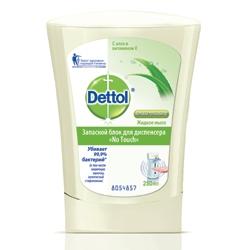 DETTOL Антибактериальное жидкое мыло для диспенсера No Touch с Алоэ и витамином Е (запасной блок) 250 мл (запасной блок)