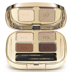 DOLCE  GABBANA MAKE UP Четырёхцветные тени для век Smooth Eye Colour Quad № 121 TENDER