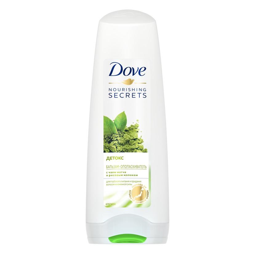DOVE Бальзам-ополаскиватель для волос Детокс с чаем матча и рисовым молоком