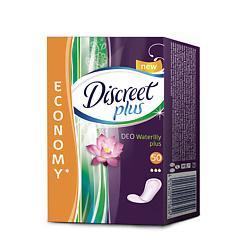 DISCREET Plus Женские гигиенические прокладки на каждый день Deo Water Lily Plus Trio 50 шт.