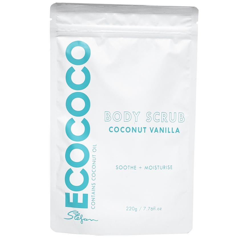 ECOCOCO Скраб для тела для смягчения и увлажнения Ваниль и Кокос
