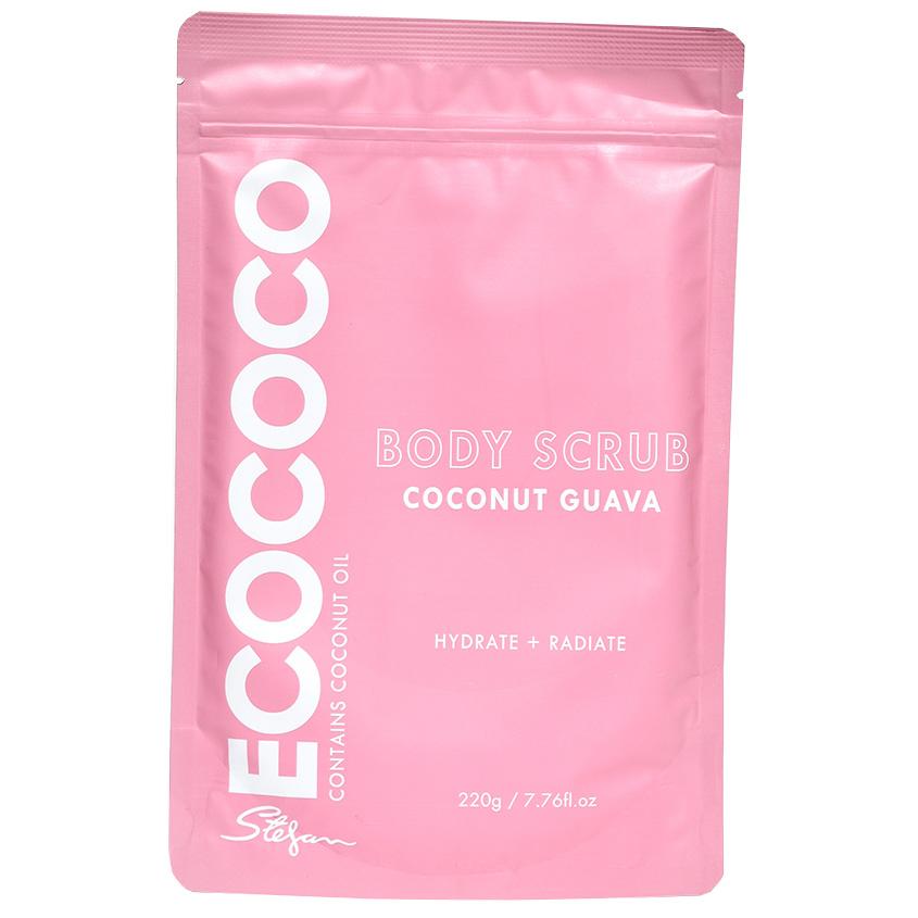 ECOCOCO Скраб для тела для увлажнения и сияния Гуава и Кокос