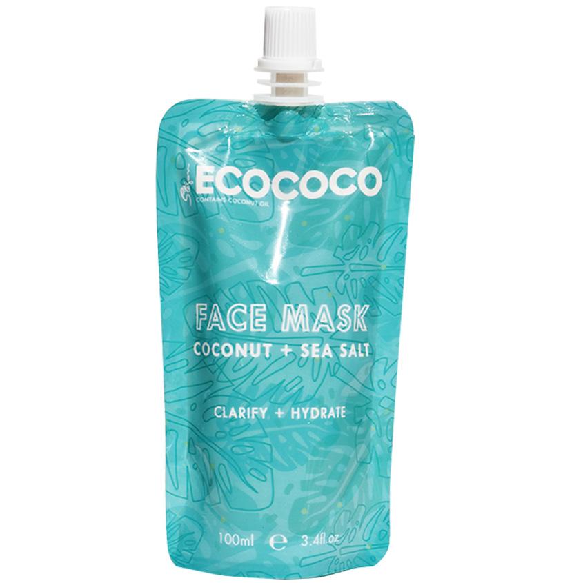 ECOCOCO Маска для лица увлажняющая с кокосом и морской солью