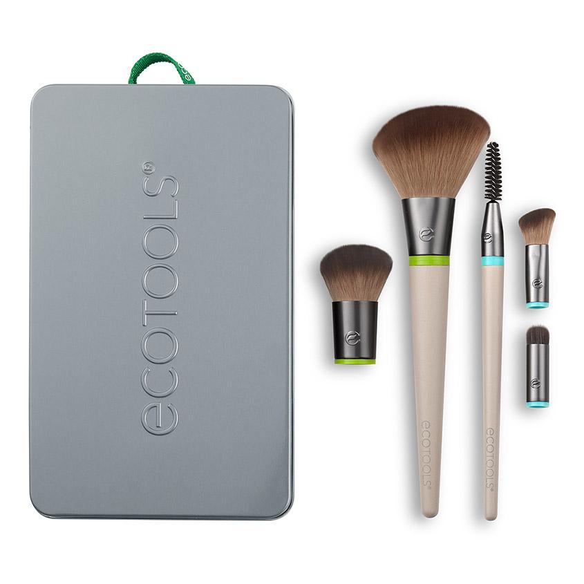 Купить ECOTOOLS Набор кистей для макияжа (5 сменных насадок и 2 ручки) EcoTools Interchangeables Daily Essentials Total Face Kit