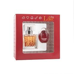 LIKE ПОДАРОЧНЫЙ НАБОР LIKE Love Парфюмерная вода, спрей 50 мл + бальзам для губ