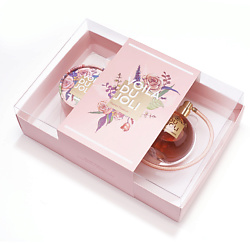 VOILA DU JOLI Подарочный набор Pastel Passion Парфюмерная вода, спрей 100 мл + Пудра-бронзант для тела, 15 г
