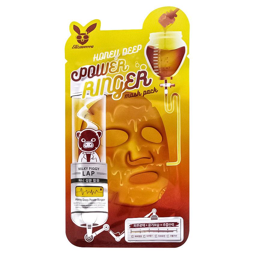 ELIZAVECCA Маска для лица тканевая с медом  - Купить