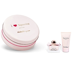 SALVATORE FERRAGAMO Подарочный набор Signorina True Love Парфюмерная вода, спрей 30 мл + Молочко для тела 50 мл