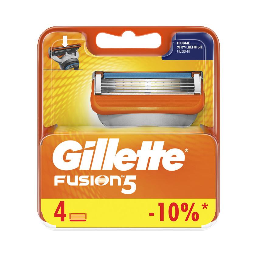 GILLETTE Сменные кассеты для бритвы Gillette Fusion
