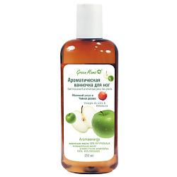 GREEN MAMA Ароматическая ванночка для ног Яблочный уксус и Чайное дерево 250 мл