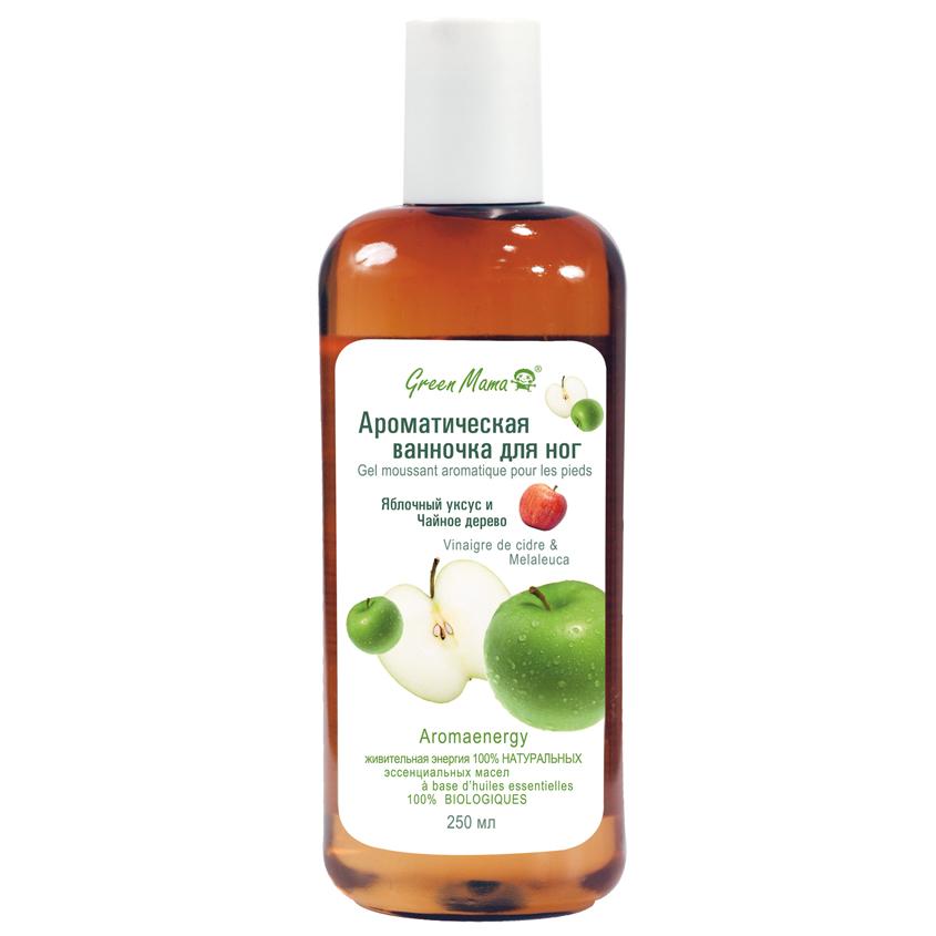 GREEN MAMA Ароматическая ванночка для ног Яблочный уксус и Чайное дерево