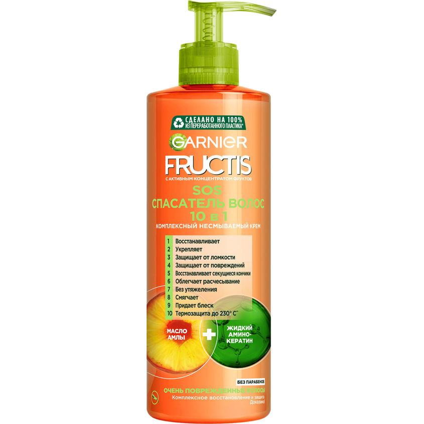 Купить GARNIER Комплексный несмываемый крем-уход SOS Спасатель волос 10 в 1 с жидким амино-кератином и маслом амлы, для поврежденных волос, без парабенов