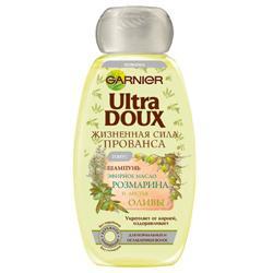 GARNIER Шампунь Ultra Doux для лишенных блеска волос - Розмарин и олива