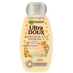 GARNIER Шампунь Ultra Doux для склонных к сухости волос - Абрикос и миндальное масло