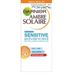 GARNIER Солнцезащитный крем для лица и зоны декольте SENSITIVE ADVANCED SPF50+