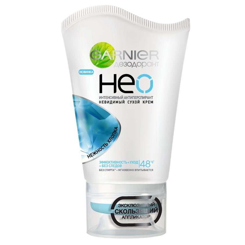 Купить GARNIER Дезодорант-антиперспирант Нео, Нежность хлопка , сухой крем, защита 48 часов, невидимый, женский