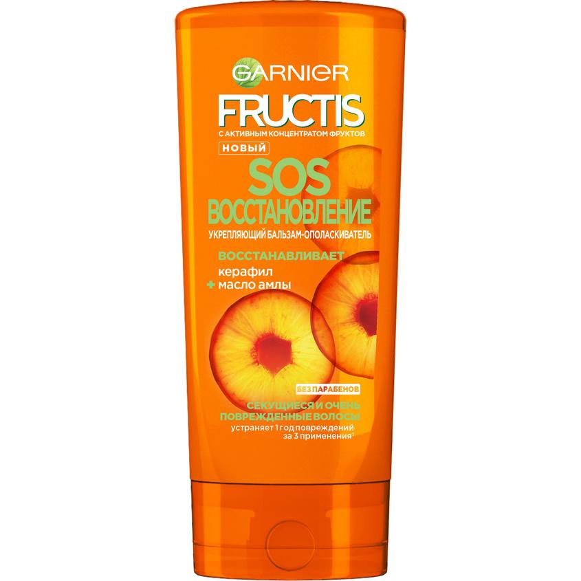 Купить GARNIER Fructis Бальзам для волос Фруктис, SOS Восстановление , укрепляющий, для секущихся и очень поврежденных волос с Керафилом и Маслом Амлы