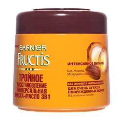 GARNIER GARNIER Маска-масло для волос FRUCTIS Тройное восстановление 300 мл garnier шампунь масло тройное восстановление fructis garnier 400 мл
