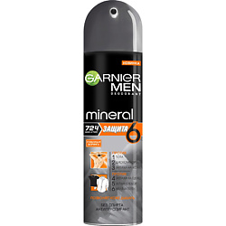 GARNIER Дезодорант-антиперспирант спрей Mineral, Защита 6, Очищающая Моринга, без спирта, защита 72 часа, мужской 150 мл garnier g22 1