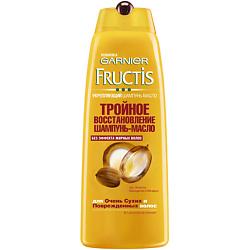 GARNIER Шампунь-масло Fructis Тройное Восстановление для очень сухих и поврежденных волос 250 мл