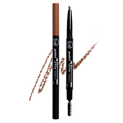 J. CAT BEAUTY Карандаш для бровей PERFECT BROW DUO 108 Light Brown 0,25 г j cat beauty тени для глаз flying solo 112 on the rocks 2 5 г