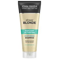 JOHN FRIEDA Увлажняющий активирующий шампунь для светлых волос Sheer Blonde 250 мл john frieda кондиционер осветляющий для натуральных мелированных и окраш волос sheer blonde go blonder 250 мл