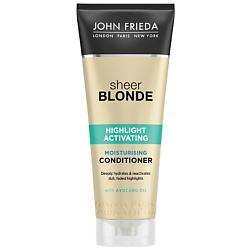 JOHN FRIEDA Увлажняющий активирующий кондиционер для светлых волос Sheer Blonde 250 мл john frieda кондиционер осветляющий для натуральных мелированных и окраш волос sheer blonde go blonder 250 мл