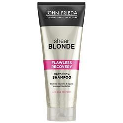JOHN FRIEDA Восстанавливающий шампунь для сильно поврежденных волос Sheer Blonde HI-IMPACT 250 мл john frieda кондиционер осветляющий для натуральных мелированных и окраш волос sheer blonde go blonder 250 мл