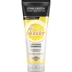 JOHN FRIEDA Шампунь осветляющий для натуральных, мелированных и окрашенных светлых волос Sheer Blonde Go Blonder 250 мл john frieda кондиционер осветляющий для натуральных мелированных и окраш волос sheer blonde go blonder 250 мл