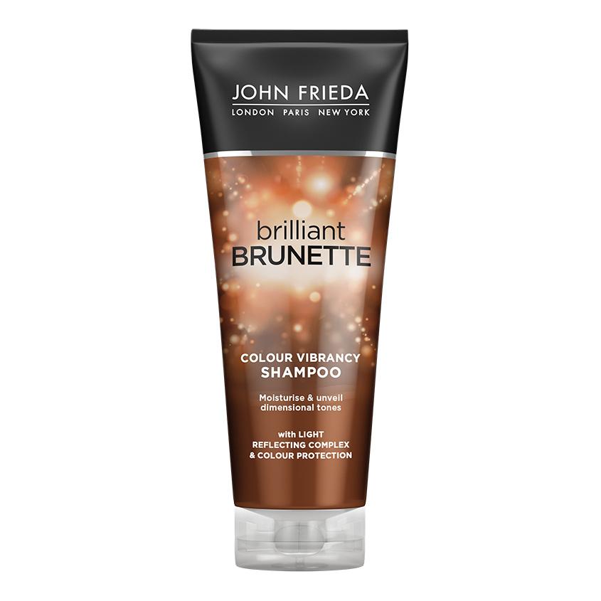 JOHN FRIEDA Увлажняющий шампунь для защиты цвета темных волос Brilliant Brunette COLOUR PROTECTING