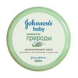 JOHNSONS BABY Увлажняющий крем для тела Нежность природы 250 мл