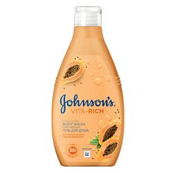 JOHNSONS Смягчающий гель для душа с экстрактом папайи 250 мл