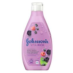 JOHNSONS Восстанавливающий гель для душа с экстрактом малины (c ароматом лесных ягод) 250 мл