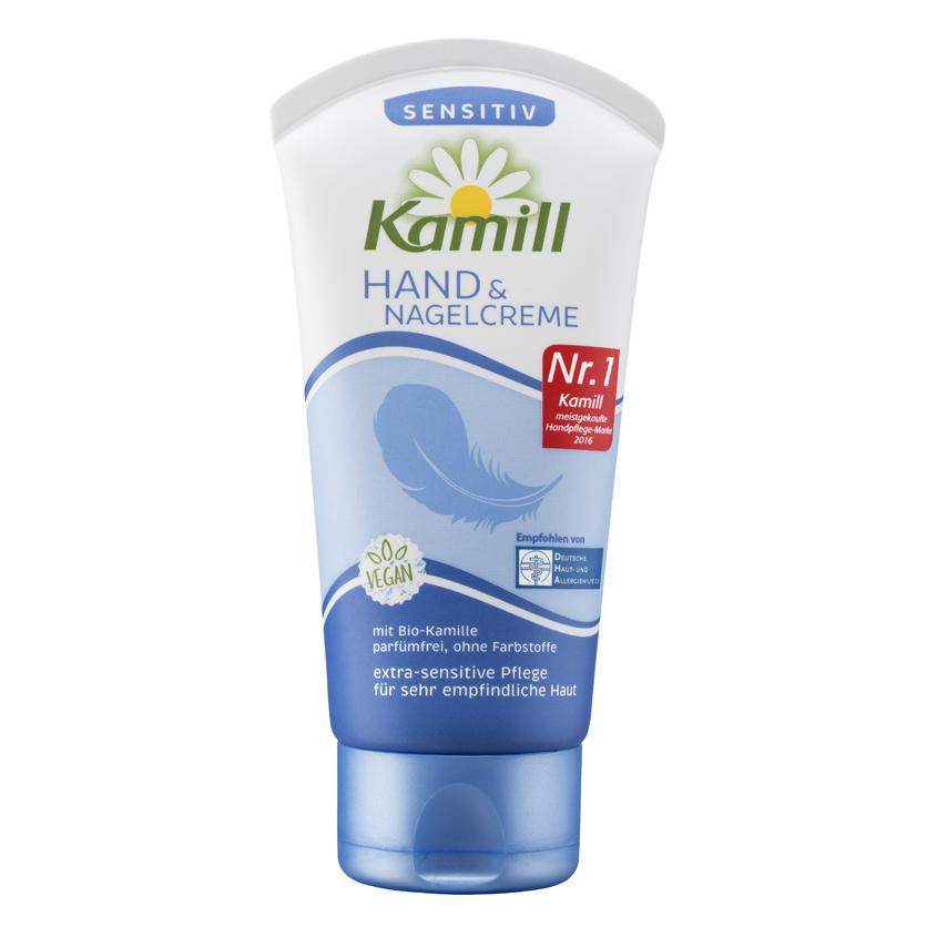 KAMILL Крем для рук и ногтей Sensitiv (Vegan с биоромашкой)