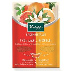 KNEIPP Кристаллы для ванн цветные 2в1 Апельсин и грейпфрут 60 г кнайпп kneipp кристаллы для ванн с эвкалиптом при холодной погоде 500г