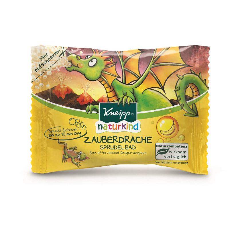 KNEIPP Бомбочка (таблетка) для ванн детская Волшебный Дракон с ароматом банана