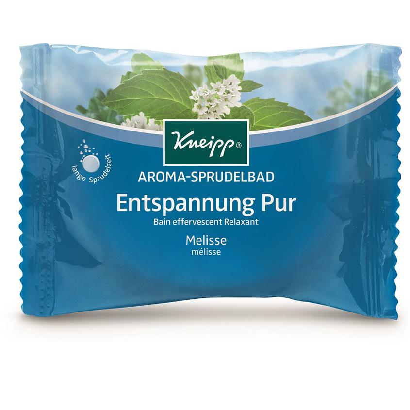 KNEIPP Бомбочка (таблетка) солевая ароматическая для жемчужной ванны с мелиссой