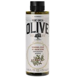 KORRES Гель для душа OLIVE & CEDAR 250 мл гель для душа korres ваниль